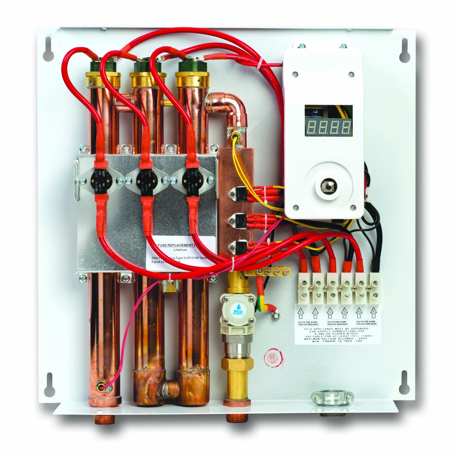 Ecosmart ECO 27 Electric Tankless Water Heater 2 ecosmart eco 27 electric tankless water heater reviews rheem rete 27 wiring diagram at couponss.co