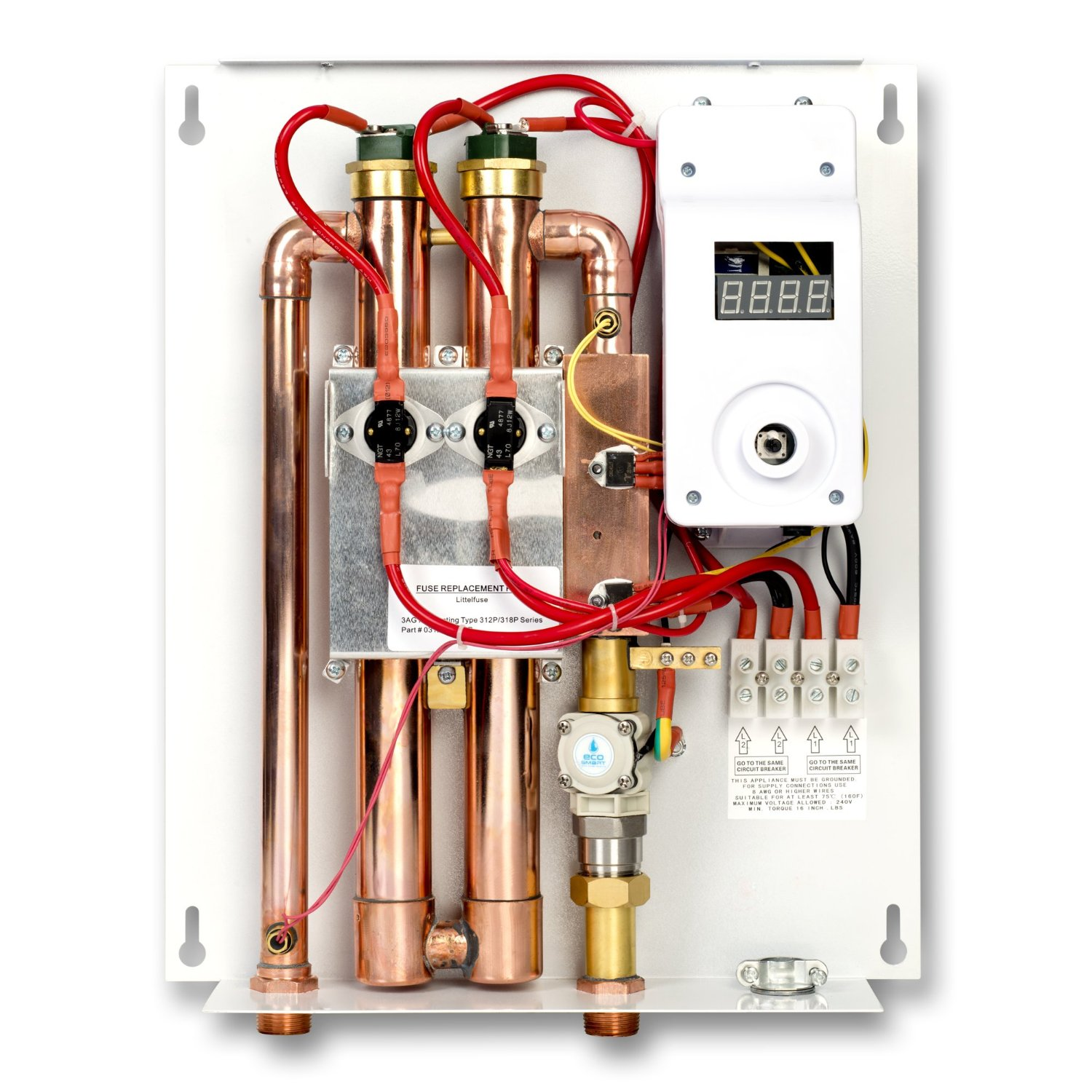 ecosmart eco 18 electric tankless water heater patented self modulating technology